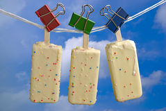 Ice cream over blue sky Stock Photos