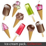 Ice cream pack. Collection Stock Photos