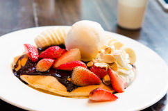 Ice Cream pancake Royalty Free Stock Photography