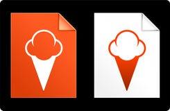 Ice Cream on Paper Set Stock Photos