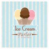 Ice Cream Parlor. A Retro Ice Cream Parlor design with editable text Royalty Free Stock Photography