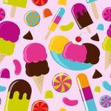 Ice Cream Parlor. Seamless Background Stock Photo