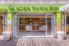 Ice Cream Parlor. Self serve ice cream parlor in Menton, Southern France royalty free stock photography