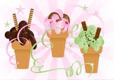 Ice cream party, cdr vector Stock Images