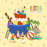 Ice cream party Stock Images