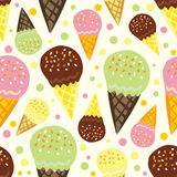 Ice cream pattern. Vector seamless pattern with ice cream Stock Image