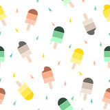 Ice cream pattern background. Stock Photography