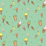 Ice-cream pattern Royalty Free Stock Images