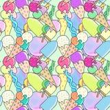 Ice cream pattern Royalty Free Stock Photos
