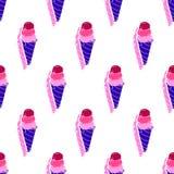 Ice-cream Pattern Colored29 Stock Photos