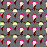 Ice cream pattern Stock Photos