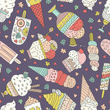 Ice Cream Pattern Royalty Free Stock Photo