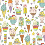 Ice Cream Pattern Royalty Free Stock Image