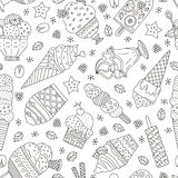 Ice Cream Pattern Stock Images