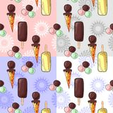 Ice cream pattern Royalty Free Stock Photos