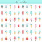 Ice cream pattern. Stock Photography