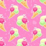 Ice-cream pattern Stock Image