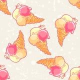 Ice-cream pattern Stock Photos
