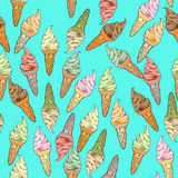 Ice cream pattern Royalty Free Stock Photography