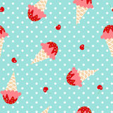 Ice cream pattern Stock Photo