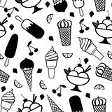 Ice cream pattern seamless Royalty Free Stock Image