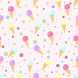 Ice cream pattern Royalty Free Stock Image