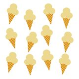Ice cream pattern Stock Images