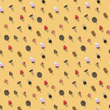 Ice cream pattern. Vector illustration royalty free illustration