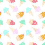 Ice cream pattern Stock Photography