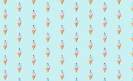 Ice cream pattern wallpaper Royalty Free Stock Images