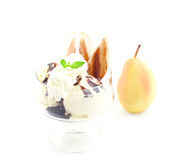 Ice cream pear helene Royalty Free Stock Photography