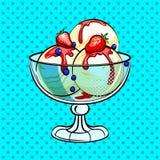 Ice cream pop art vector illustration Stock Photography