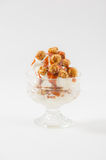Ice cream with pop corn Royalty Free Stock Images