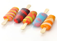 Ice cream pops Stock Images