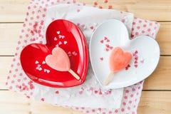 Ice cream pops in heart shape Royalty Free Stock Photo