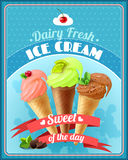 Ice Cream Poster Royalty Free Stock Photo