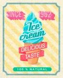 Ice-cream poster Stock Photo