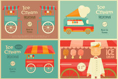 Ice Cream Poster Stock Photography