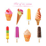 Ice Cream Poster. Set Royalty Free Stock Images