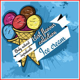 Ice cream poster Stock Images