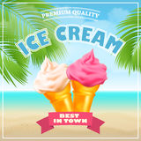 Ice Cream Poster. Vector Illustration. Royalty Free Stock Photography