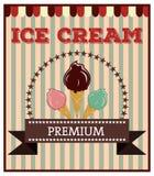 Ice cream poster Stock Photos