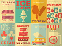 Ice Cream Posters Royalty Free Stock Photo