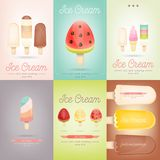 Ice Cream Posters Set Royalty Free Stock Photos