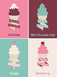 Ice Cream Posters Set Royalty Free Stock Images