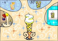 An ice-cream process vector illustration