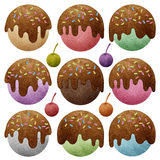 Ice cream recycled paper craft Stock Images