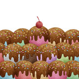 Ice cream recycled paper craft Royalty Free Stock Image