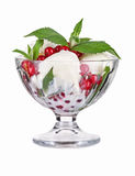 Ice cream with red currant Stock Images