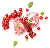 Ice cream of redcurrant, above view Royalty Free Stock Image